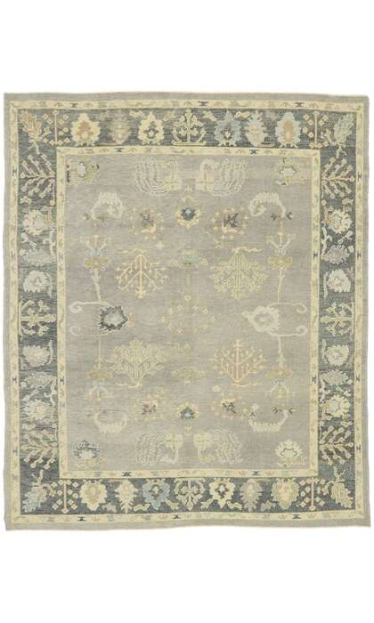 8 x 10 Contemporary Turkish Oushak Rug 52942