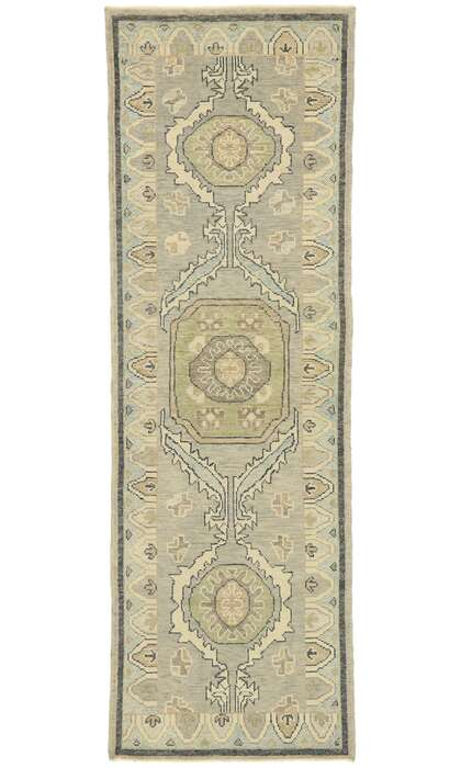 3 x 10 Contemporary Turkish Oushak Runner 52948