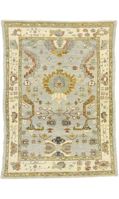 4 x 6 Contemporary Turkish Oushak Rug 52950