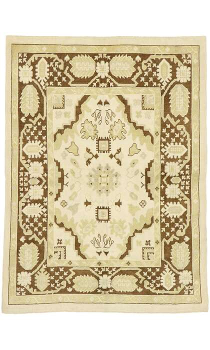 6 x 8 Contemporary Turkish Oushak Rug 52954