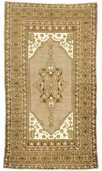 4 x 7 Vintage Turkish Oushak Rug 52958