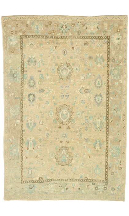 5 x 8 Contemporary Turkish Oushak Rug 52959