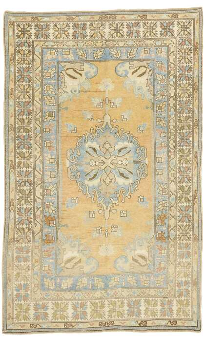 5 x 7 Vintage Turkish Oushak Rug 52966