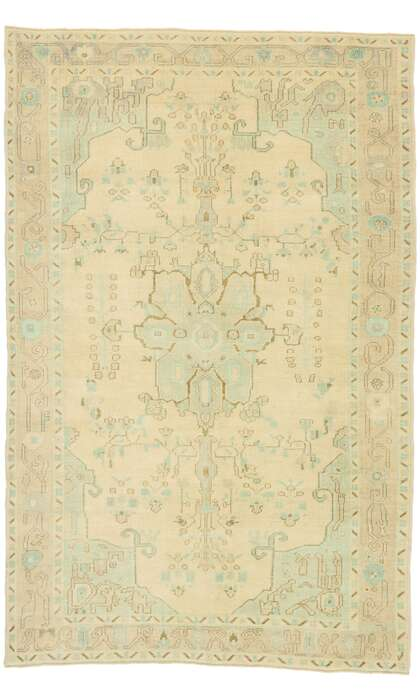 6 x 9 Turkish Oushak Rug 52977