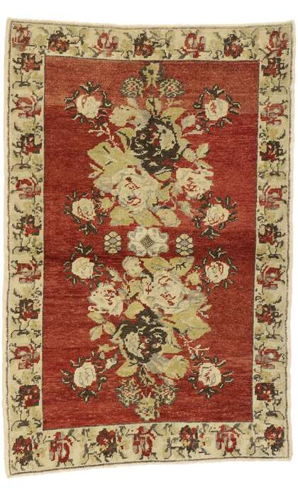 3 x 5 Vintage Turkish Oushak Rug 52978