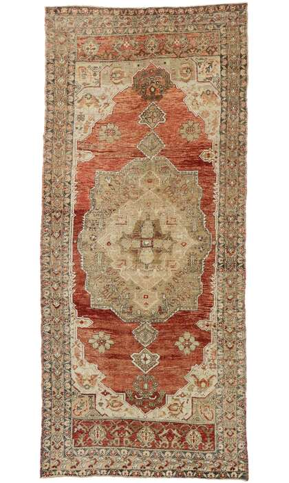 5 x 11 Vintage Turkish Oushak Rug 52980