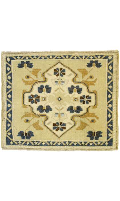 2 x 2 Vintage Turkish Oushak Rug 53000