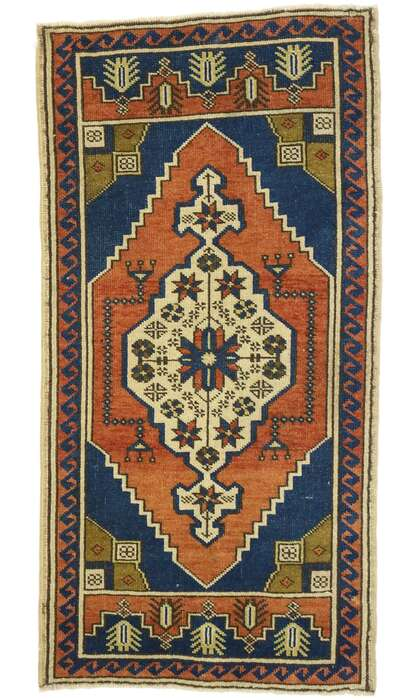 2 x 4 Vintage Turkish Oushak Rug 53007