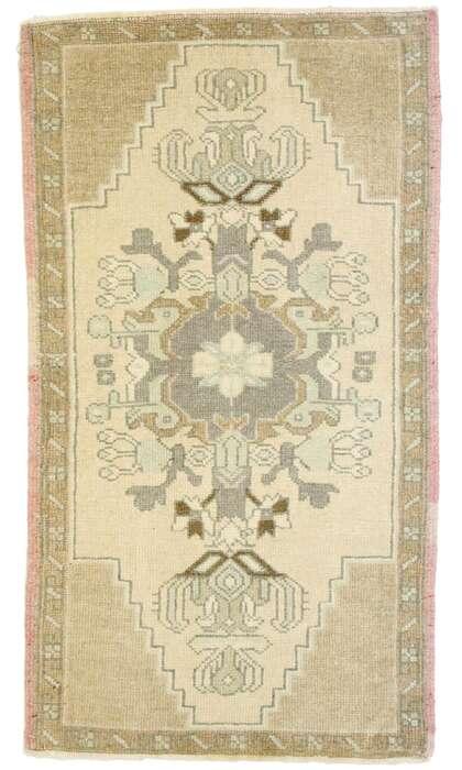 2 x 3 Vintage Turkish Oushak Rug 53016