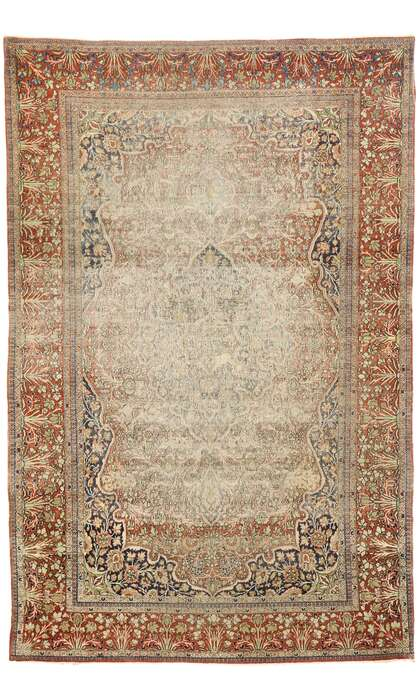 4 x 7 Antique Kashan Rug 77444