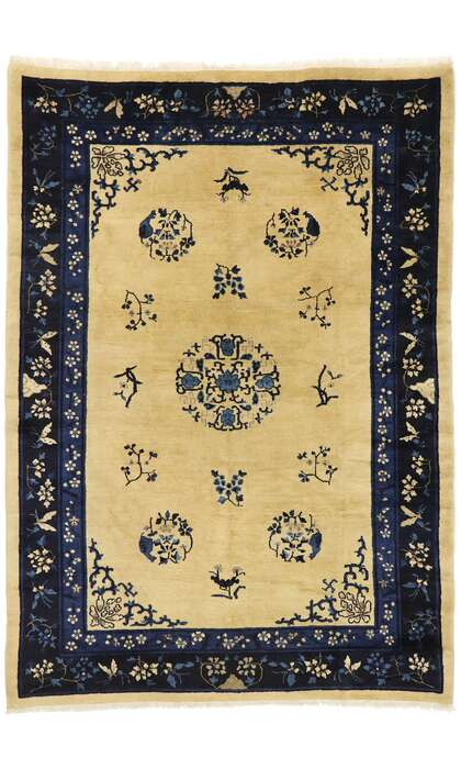 6 x 9 Antique Chinese Peking Rug 77446