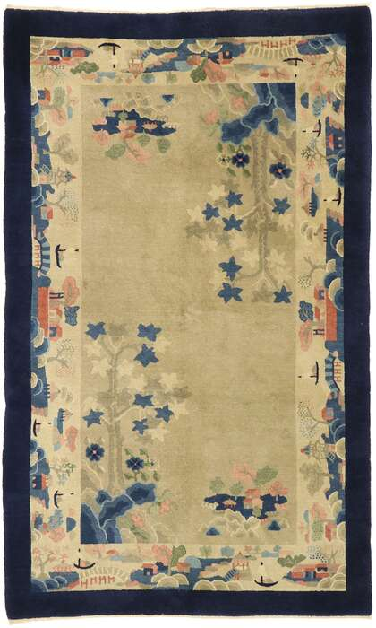 4 x 7 Antique Chinese Rug 77448