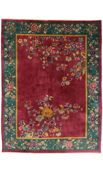 9 x 12 Antique Art Deco Rug 77454