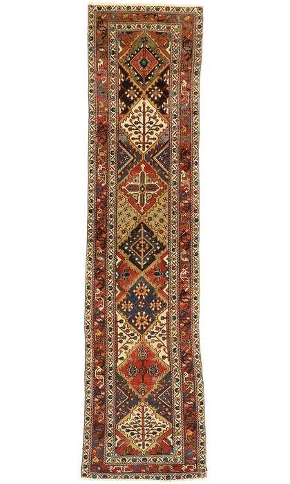 3 x 13 Vintage Persian Heriz Rug 77458