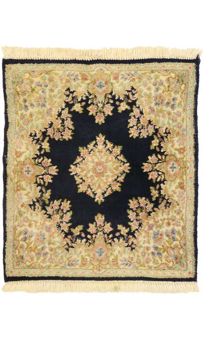 3 x 4 Antique Persian Kerman Rug 77462