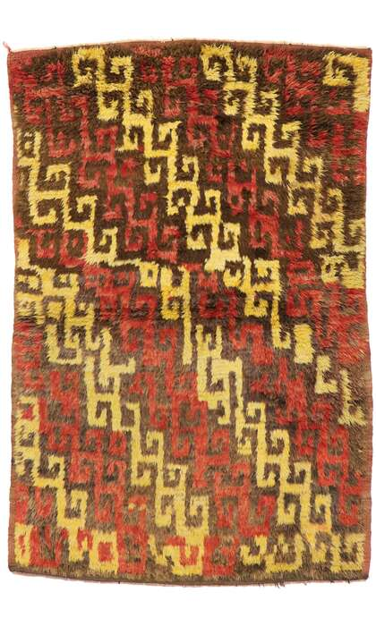 4 x 6 Vintage Turkish Tulu Rug 51556