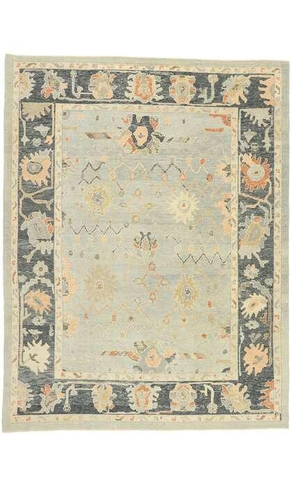 9 x 12 Contemporary Turkish Oushak Rug 52900