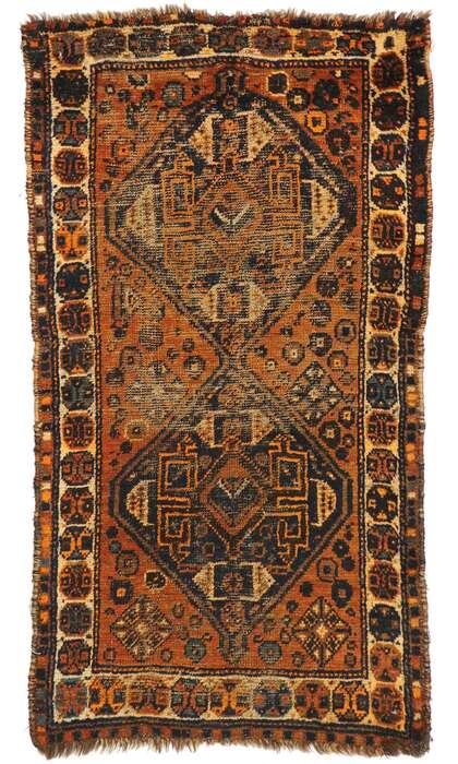 2 x 4 Antique Afghani Tribal Rug 71846