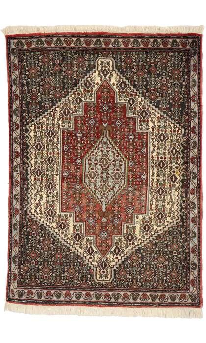 2 x 3 Vintage Persian Sanadaj Rug 75011