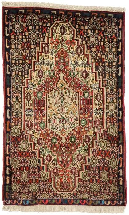 2 x 4 Vintage Persian Sanadaj Rug 75015