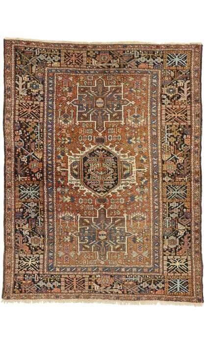 5 x 6 Antique Persian Heriz Rug 77067