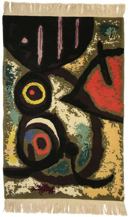 2 x 3 Joan Miro Surrealist Style Tapestry 77099