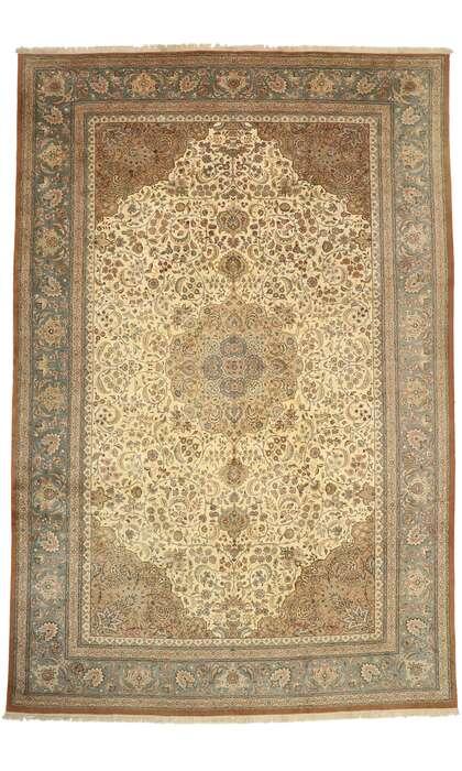 13 x 20 Vintage Tabriz Rug 77499