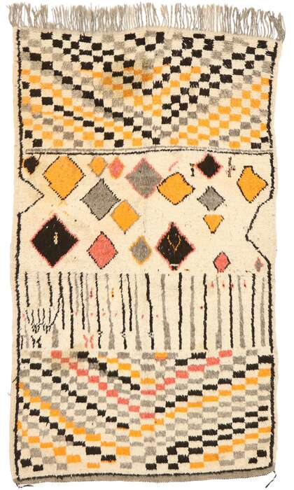 5 x 7 Vintage Moroccan Azilal Rug 20053