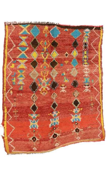 5 x 5 Vintage Moroccan Rug 20086