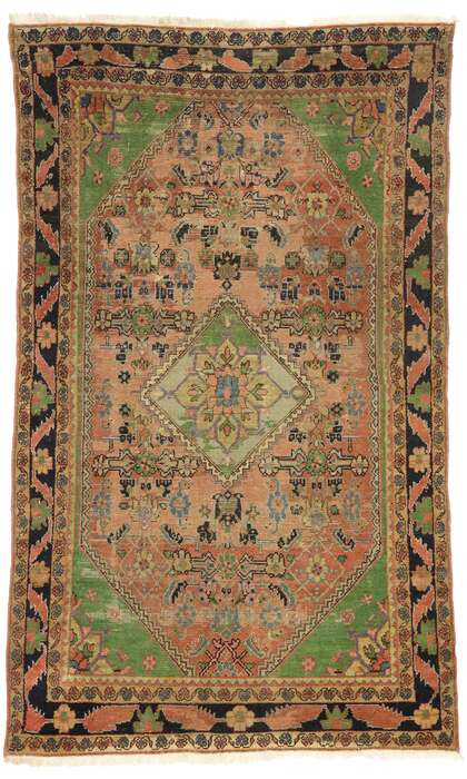4 x 7 Antique Persian Mahal Rug 77501