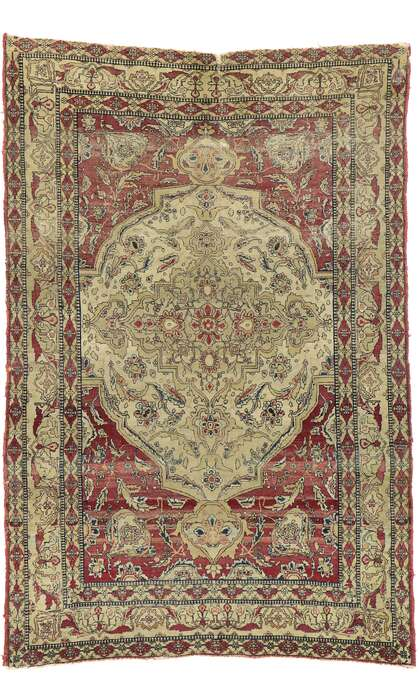 4 x 6 Antique Persian Kerman Rug 77515