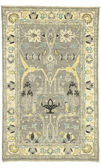 4 x 7 Contemporary Oushak Rug 80593