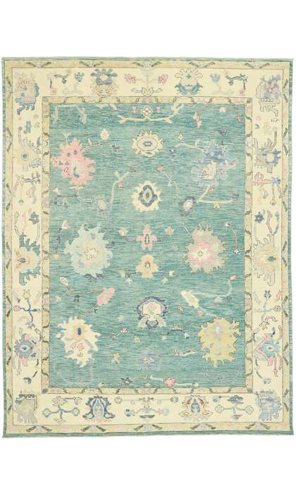 9 x 12 Contemporary Oushak Rug 80603