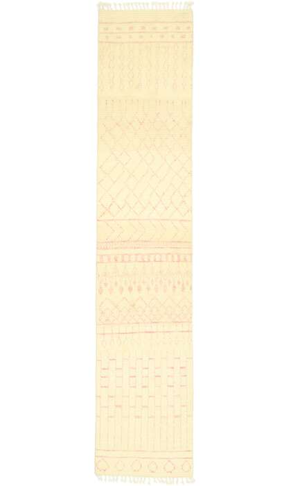 3 x 12 Contemporary Pink Moroccan Runner 80606