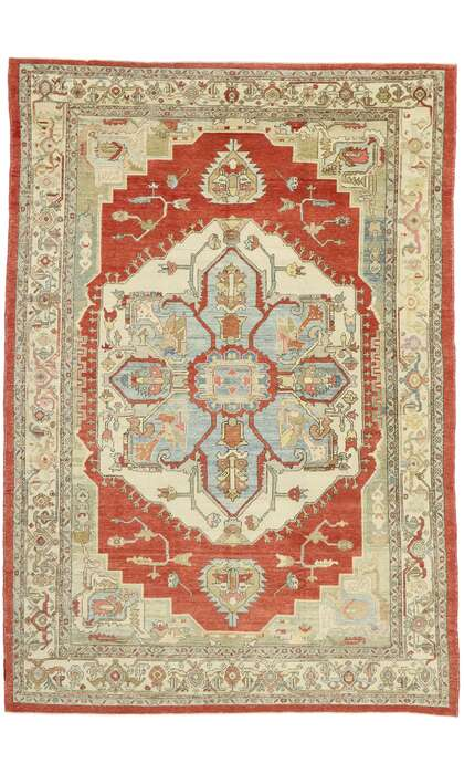 9 x 13 Antique Turkish Oushak Rug 53019