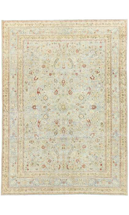 7 x 10 Antique Persian Khorassan Rug 53036