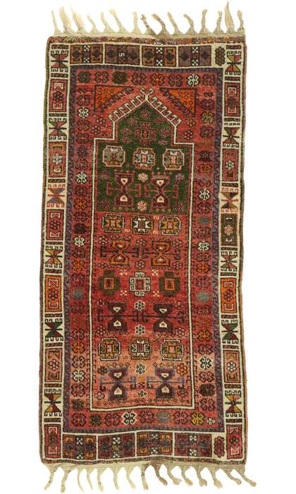 2 x 5 Vintage Turkish Oushak Rug 53038