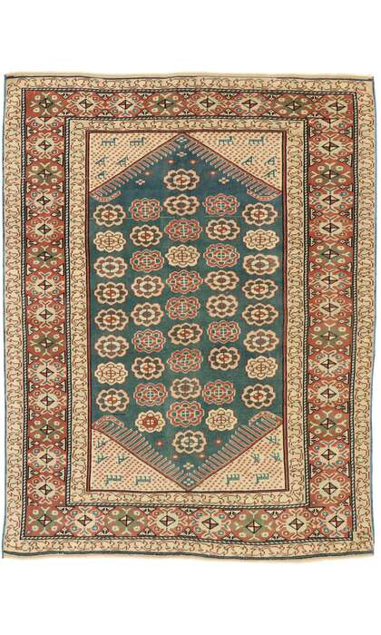 5 x 6 Antique Turkish Oushak Rug 53042
