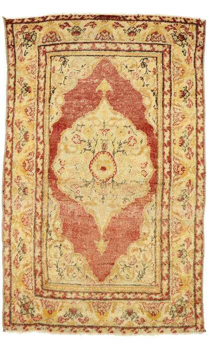 2 x 4 Vintage Turkish Oushak Rug 53047