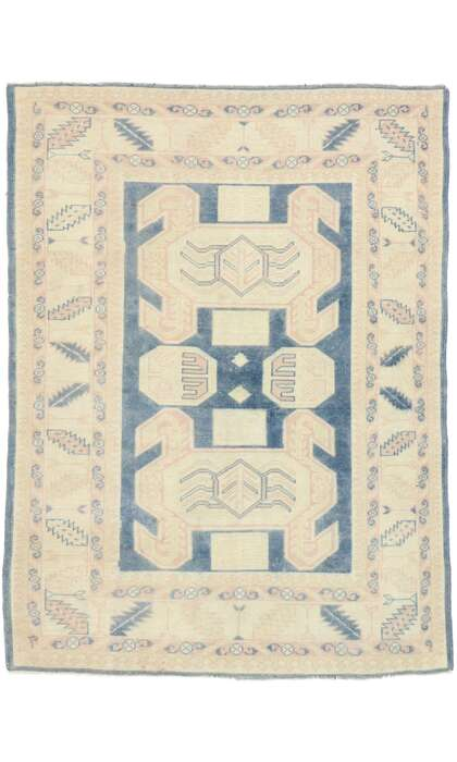 5 x 7 Vintage Turkish Oushak Rug 53054