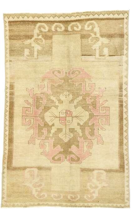 4 x 6 Vintage Turkish Oushak Rug 53064