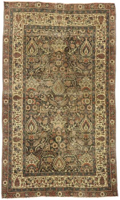 4 x 6 Antique Turkish Sivas Rug 53065