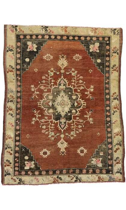 5 x 7 Vintage Turkish Oushak Rug 53069