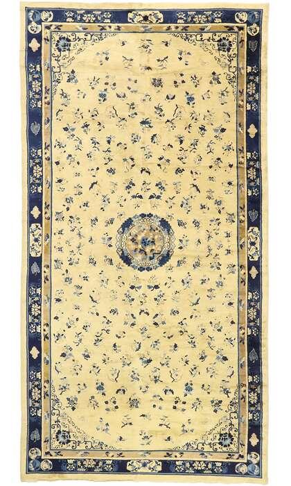 10 x 19 Antique Chinese Peking Rug 72179