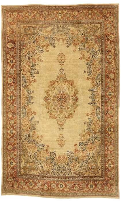 12 x 19 Antique Persian Mahal Rug 73329