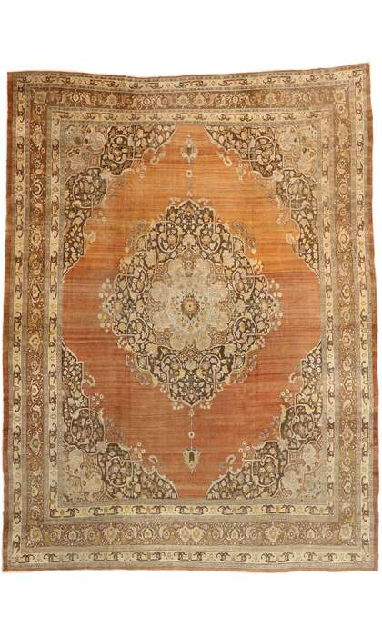 13 x 17 Antique Tabriz Rug 74321