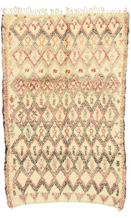 7 x 11 Vintage Beni Ourain Moroccan Rug 74509