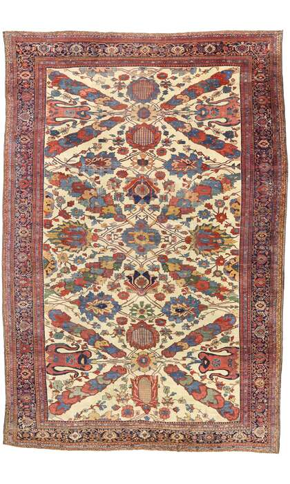 14 x 20 Antique Persian Ziegler Mahal Rug 75660
