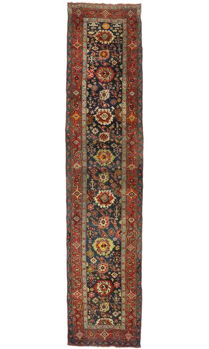 4 x 17 Antique Persian Bijar Runner 77495