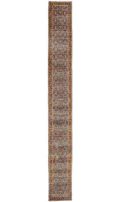 3 x 23 Antique Persian Tabriz Runner 774983 x 23 Antique Persian Tabriz Runner 77498